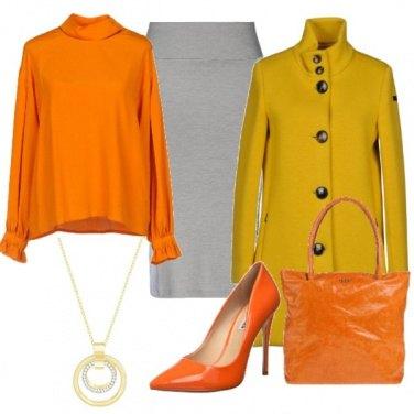 Outfit Giallo e arancione