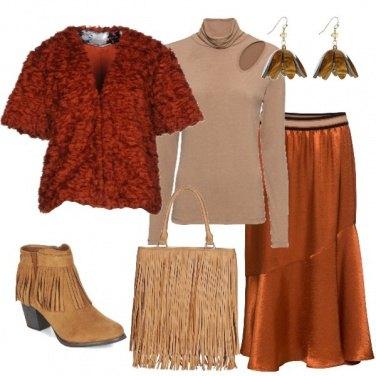 Outfit Frange e pelliccia ecologica