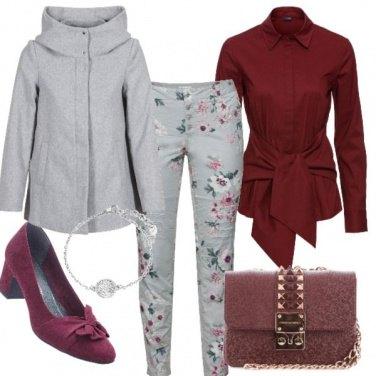 Outfit Grigio bordeux