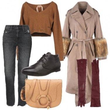 Outfit I guanti burgundy