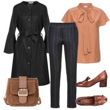 Outfit Antracite e toni speziati