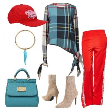 Outfit Sporty chic griffato