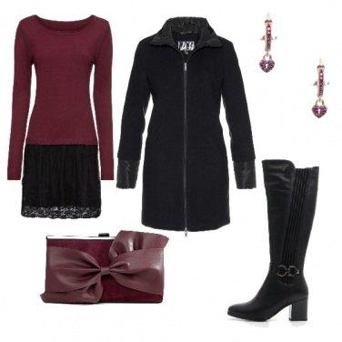 Outfit Fiocco bordeaux