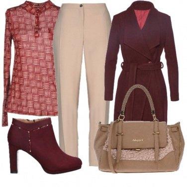 Outfit Cappotto bordeaux