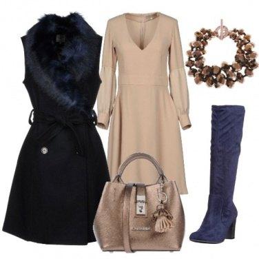 Outfit Il cappotto smanicato blu
