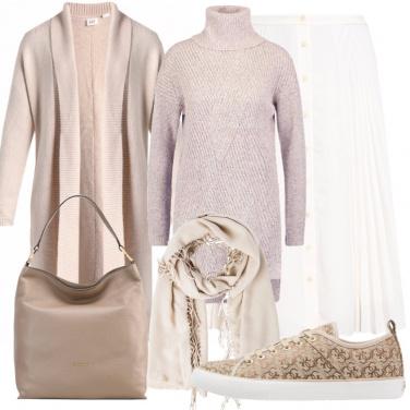 Outfit Comoda nei toni neutri