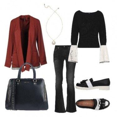 Outfit Scarpe bianche e nere!!