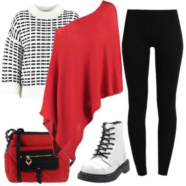 Outfit Rosso per il tuo black and white