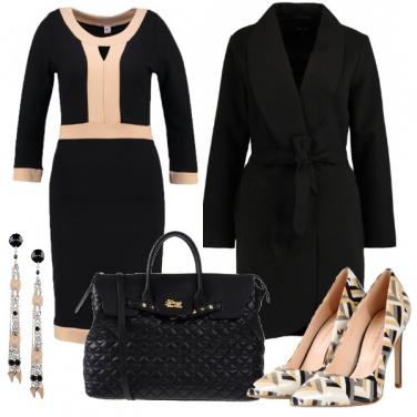 Outfit Abito con dettagli in contrasto