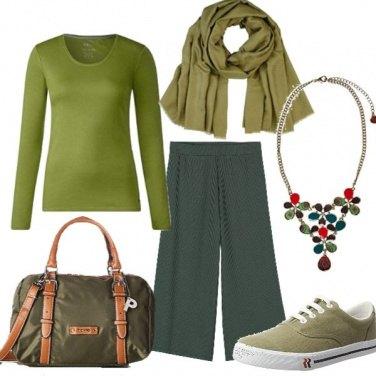 Outfit Le mille sfumature del verde