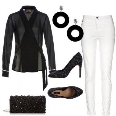 Outfit Trasparenze in bianco e nero