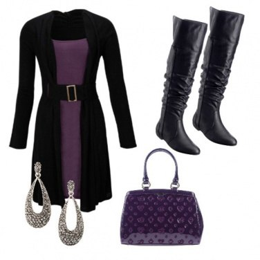 Outfit Deep purple