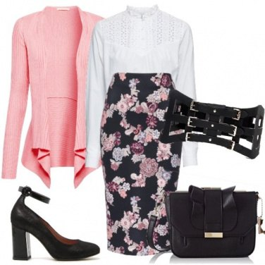 Outfit La primavera sulla gonna