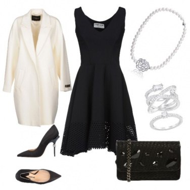 Outfit Cerimonia black and White
