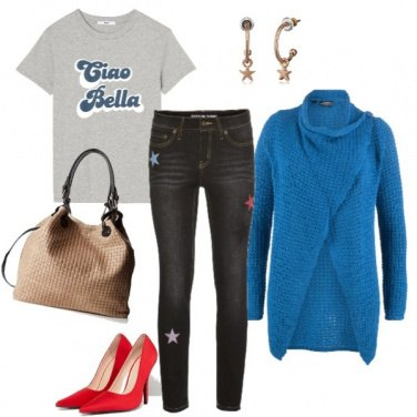 Outfit Casual col tacco rosso