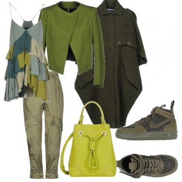 Outfit Domenica in verde