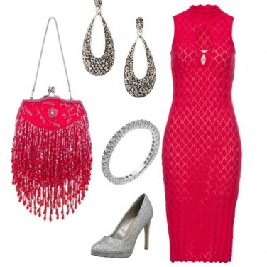Outfit Rosso argentato