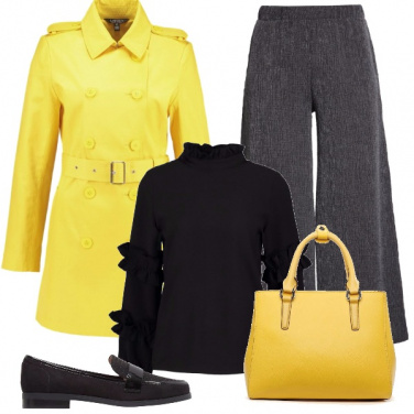 Outfit Giallo sole in gennaio
