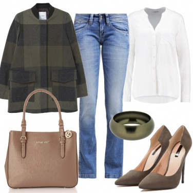 Outfit Color oliva