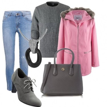 Outfit La giacca rosa