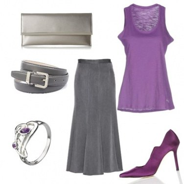 Outfit Violet&grey