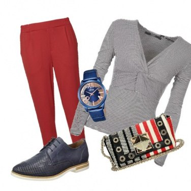 Outfit A strisce