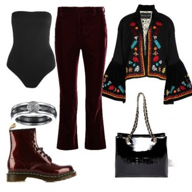 Outfit Pantaloni in velluto