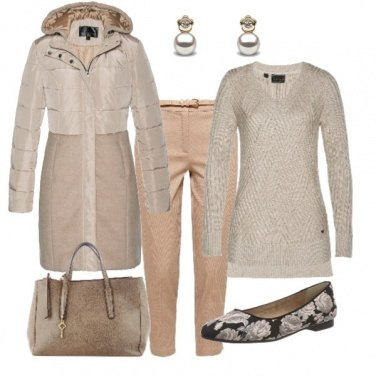 Outfit Eleganza in beige