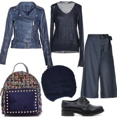 Outfit Trendy in blu