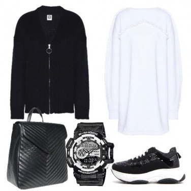 Outfit Black and white urban