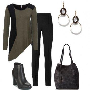 Outfit Verde militare e nero