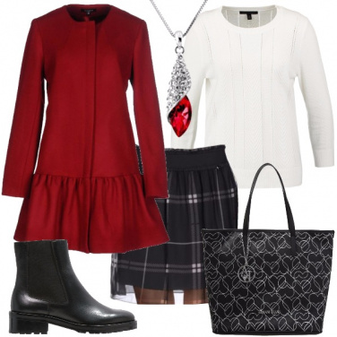 Outfit Rosso di classe