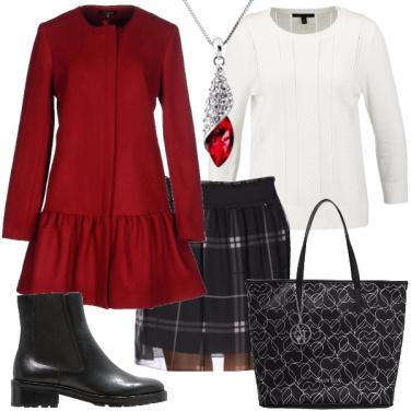 Outfit Rosso di classe