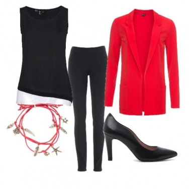 Outfit Black /Red style