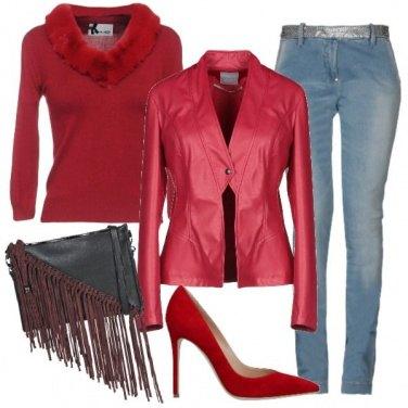 Outfit La ecopelle rossa