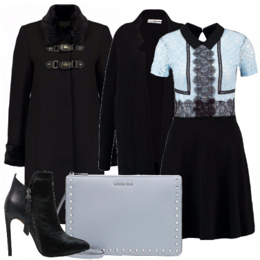 Outfit Pizzo e tacchi alti