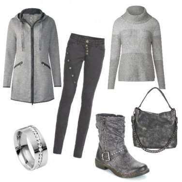 Outfit Total grey
