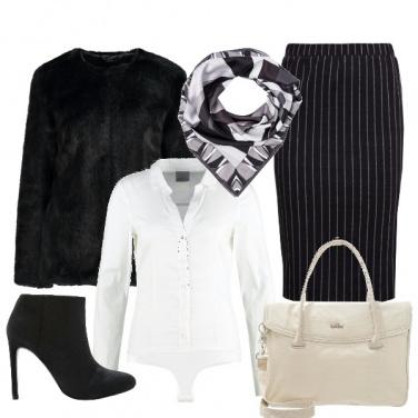 Outfit Righe in bianco e nero