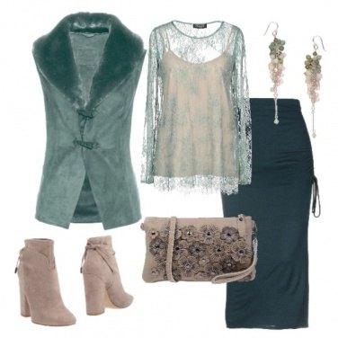 Outfit Cipria e salvia