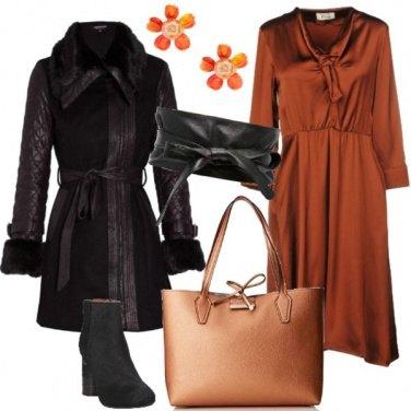 Outfit Il vestito color ruggine