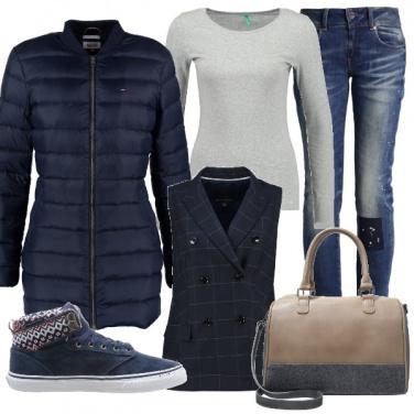 Outfit Con lana e cotone