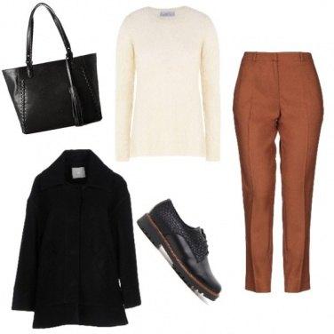 Outfit Trendy con la scarpa stringata