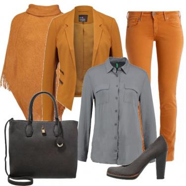 Outfit Mostarda e grigio