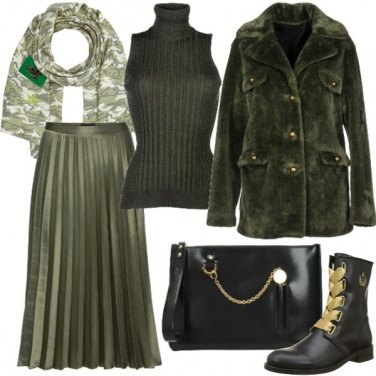 Outfit Military chic