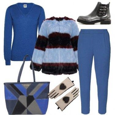 Outfit Grigio e blu fashion