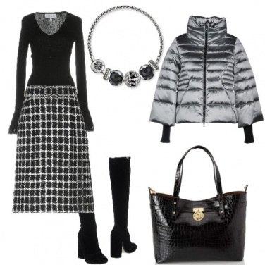 Outfit L\'eleganza del nero e del grigio