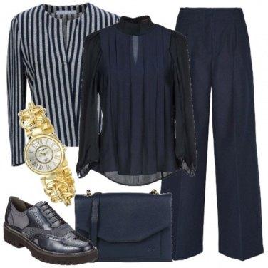Outfit Tailleur e stringata