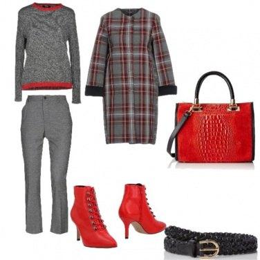 Outfit Trendy, inverno colorato di rosso