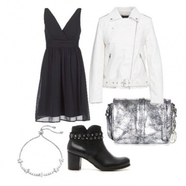 Outfit Silver Donna
