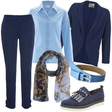 Outfit Il tailleur blu